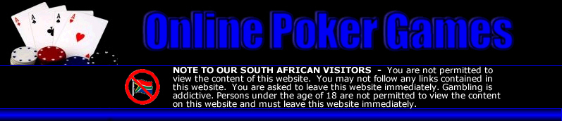 Play online poker games at the best South African poker rooms